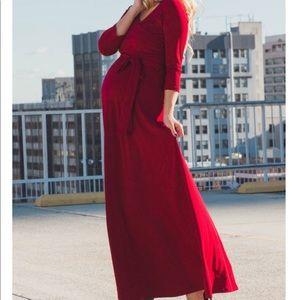 BRAND NEW red maternity maxi dress 3x